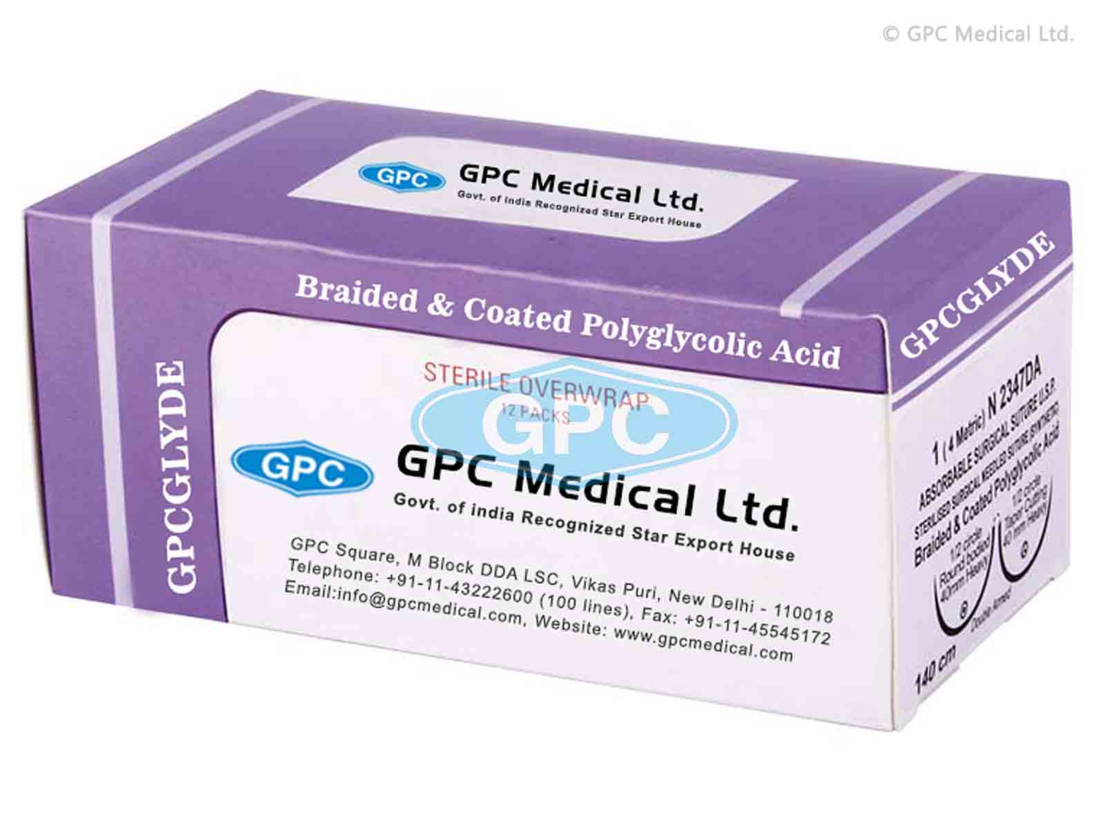 GPCGLYDE - Braided & Coated Polyglycolic Acid