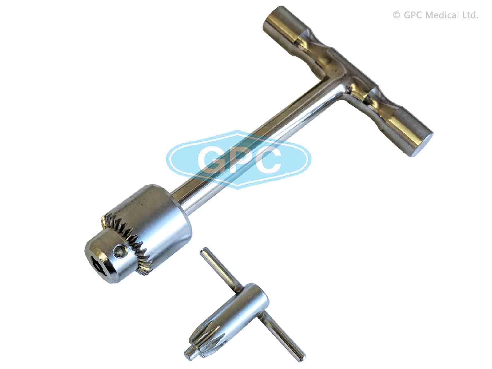 Steinmann pin introducer S.S. with S.S. Chuck & Key