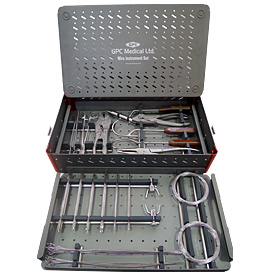 Wire Instrument Set With Aluminium Box